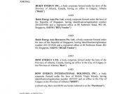 Bukit Energy Inc Share Purchase Agreement Dated May with regard to Share Purchase Agreement Template Singapore