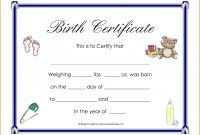 Bunch Ideas For Fake Birth Certificate Template Also Format Layout for Fake Birth Certificate Template