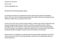 Business Analyst Cover Letter Example  Writing Tips  Resume Genius with Business Analyst Documents Templates