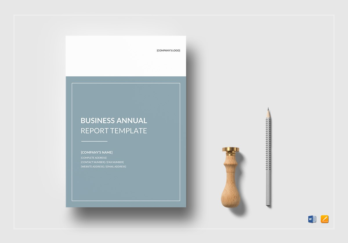Business Annual Report Template In Word Google Docs Apple Pages Within Annual Report Word Template