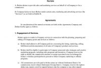 Business Broker Agreement Template  Broker Mission Contract with regard to Business Broker Agreement Template