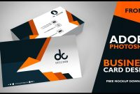 Business Card Design In Photoshop Cs  Front  Photoshop Tutorial within Photoshop Cs6 Business Card Template
