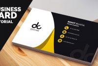 Business Card Design In Photoshop Cs Tutorial  Learn Photoshop within Photoshop Cs6 Business Card Template