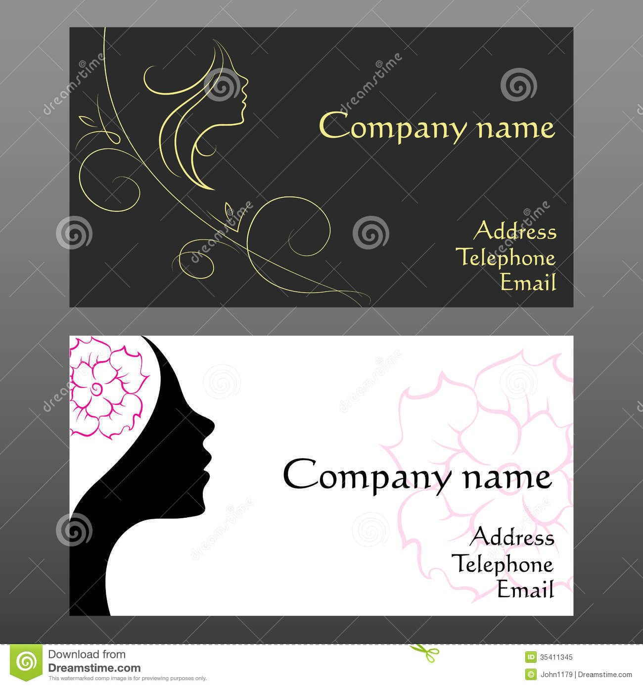 Business Card For Hairdressers Stock Vector  Illustration Of Intended For Hairdresser Business Card Templates Free