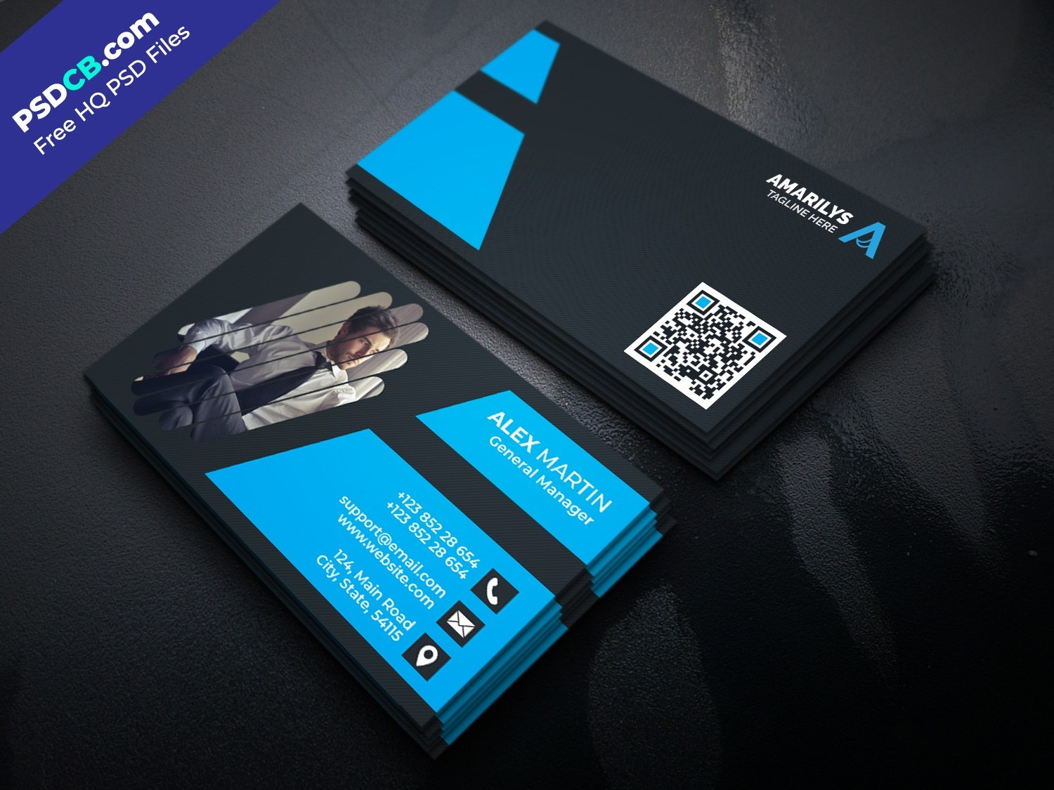 Business Card Free Psd Files At Psdcb With Regard To Free Business Card Templates In Psd Format