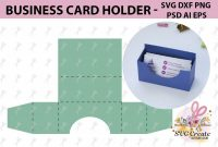 Business Card Holder Template Stand Paper Organiser Box inside Card Stand Template