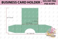 Business Card Holder Template Stand Paper Organiser Box with Business In A Box Templates