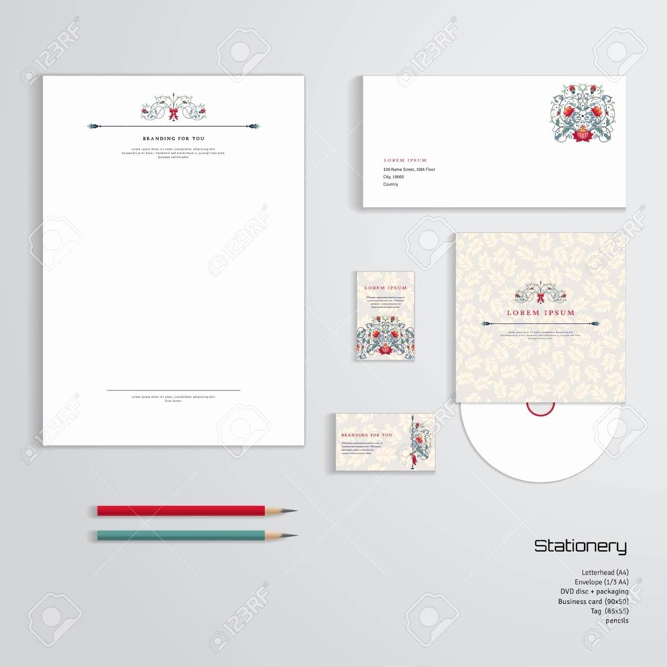Business Card Letterhead Envelope Template Beautiful Vector Identity For Business Card Letterhead Envelope Template