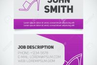 Business Card Print Template With High Heel Shoe Logo Manager throughout High Heel Template For Cards