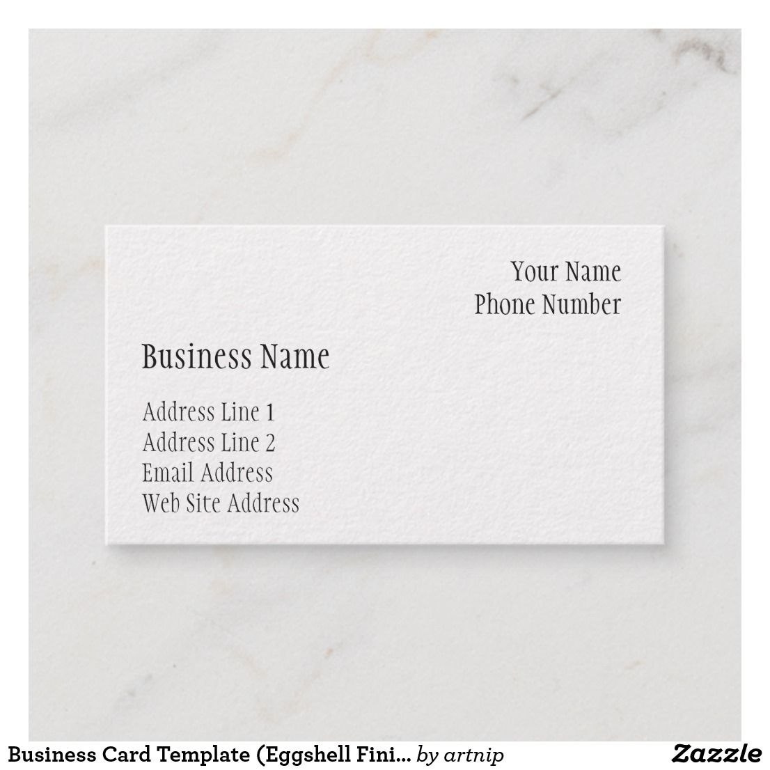 Business Card Template Eggshell Finish  Zazzle  Business Within Cards Against Humanity Template