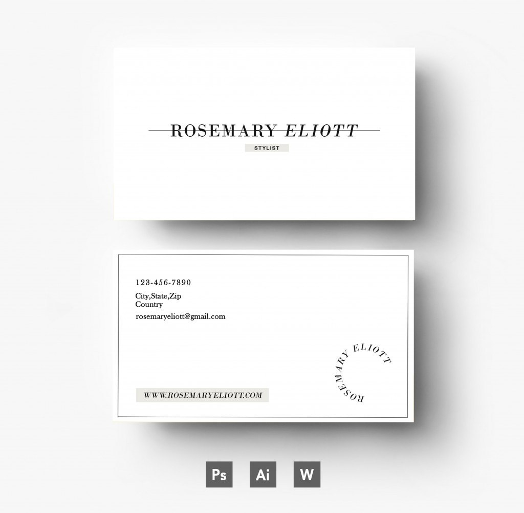 Business Card Template Photoshop Offers For Creative People Throughout Name Card Template Photoshop