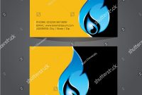Business Card Template Plumbing Heating Air Stock Vector Royalty with Hvac Business Card Template