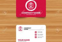 Business Card Template With Texture Checklist Sign Icon Control regarding Survey Card Template