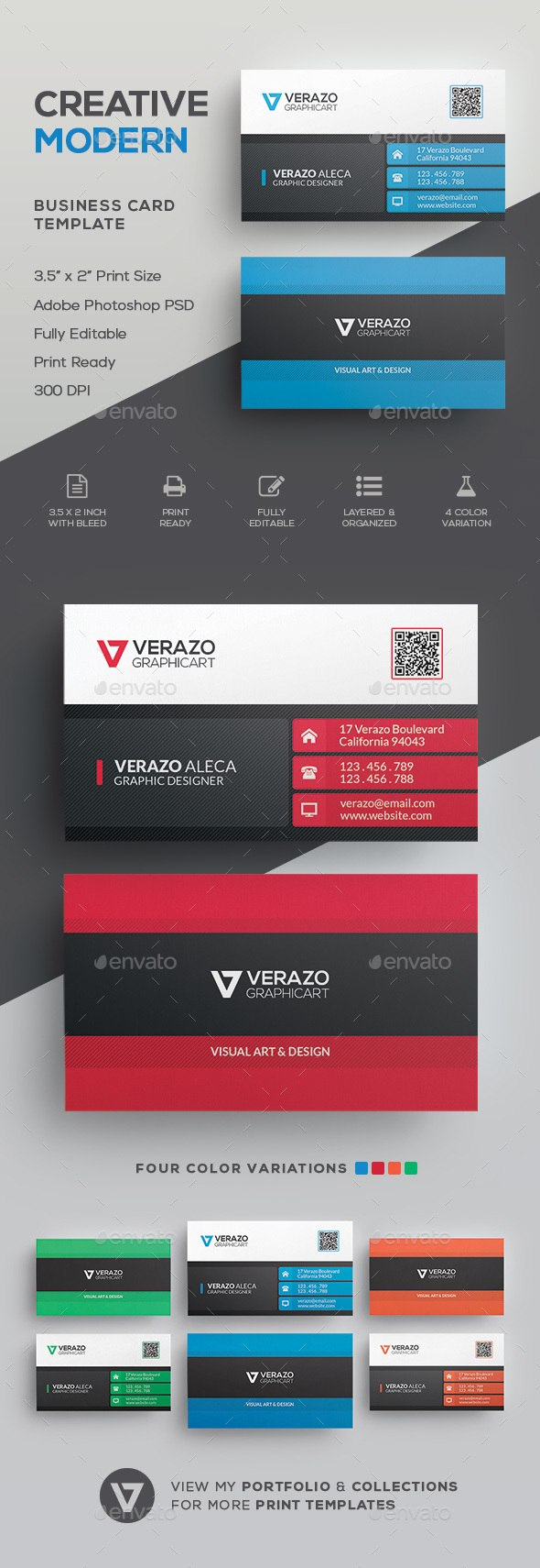 Business Card Templates  Designs From Graphicriver With Business Card Maker Template