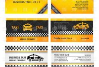 Business Card Templates For Taxi Service Vector Image Of pertaining to Transport Business Cards Templates Free
