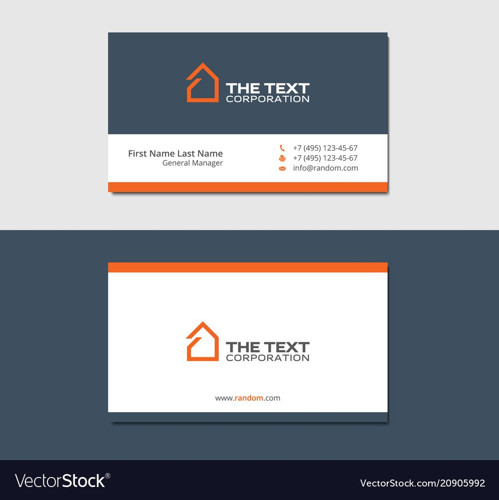 Business Cards Template For Real Estate Agency Vector Image For Real Estate Agent Business Card Template