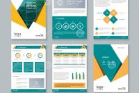 Business Company Profile Report And Brochure Layout Template Stock regarding Free Business Profile Template Word