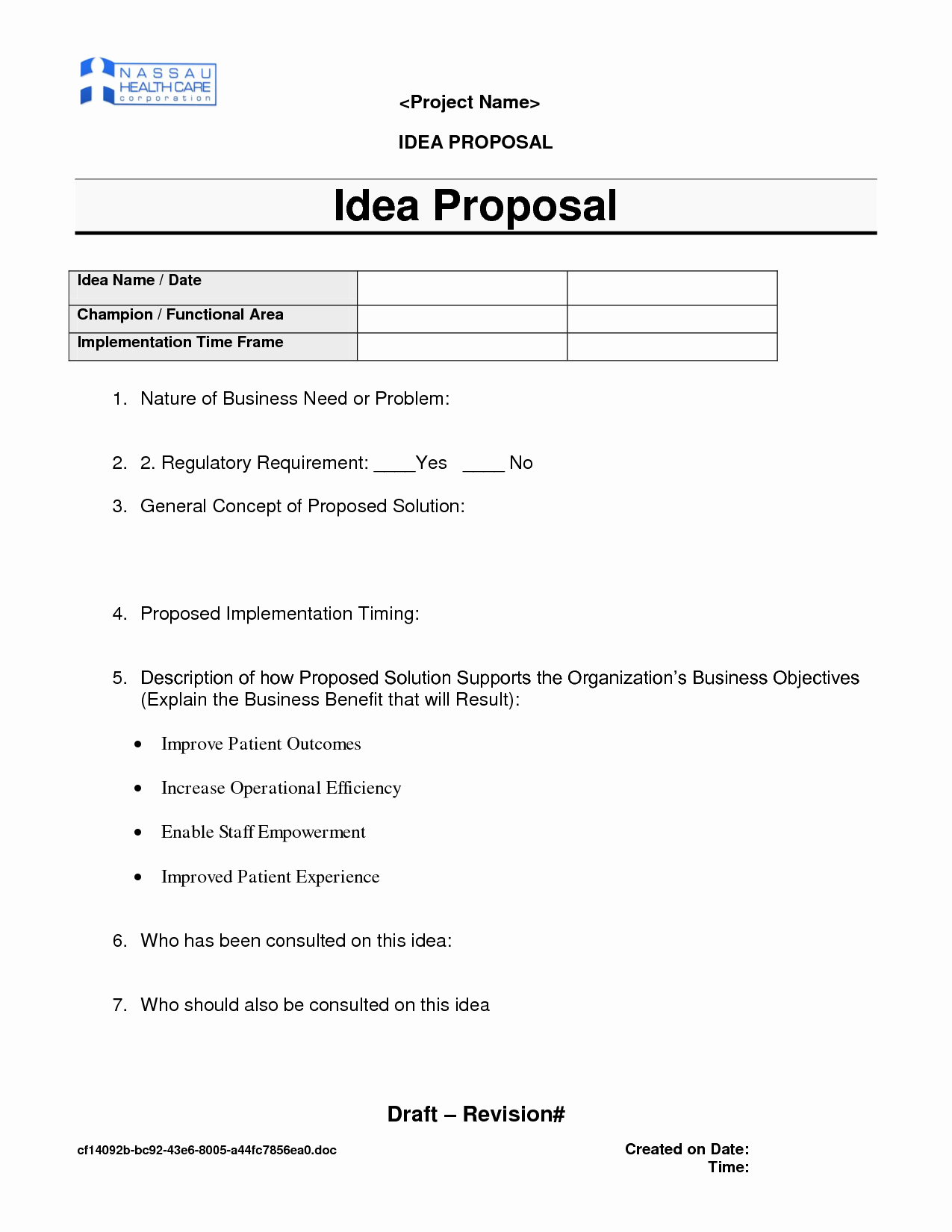 Business Concept Proposal Template – Guiaubuntupt Regarding Business Idea Template For Proposal