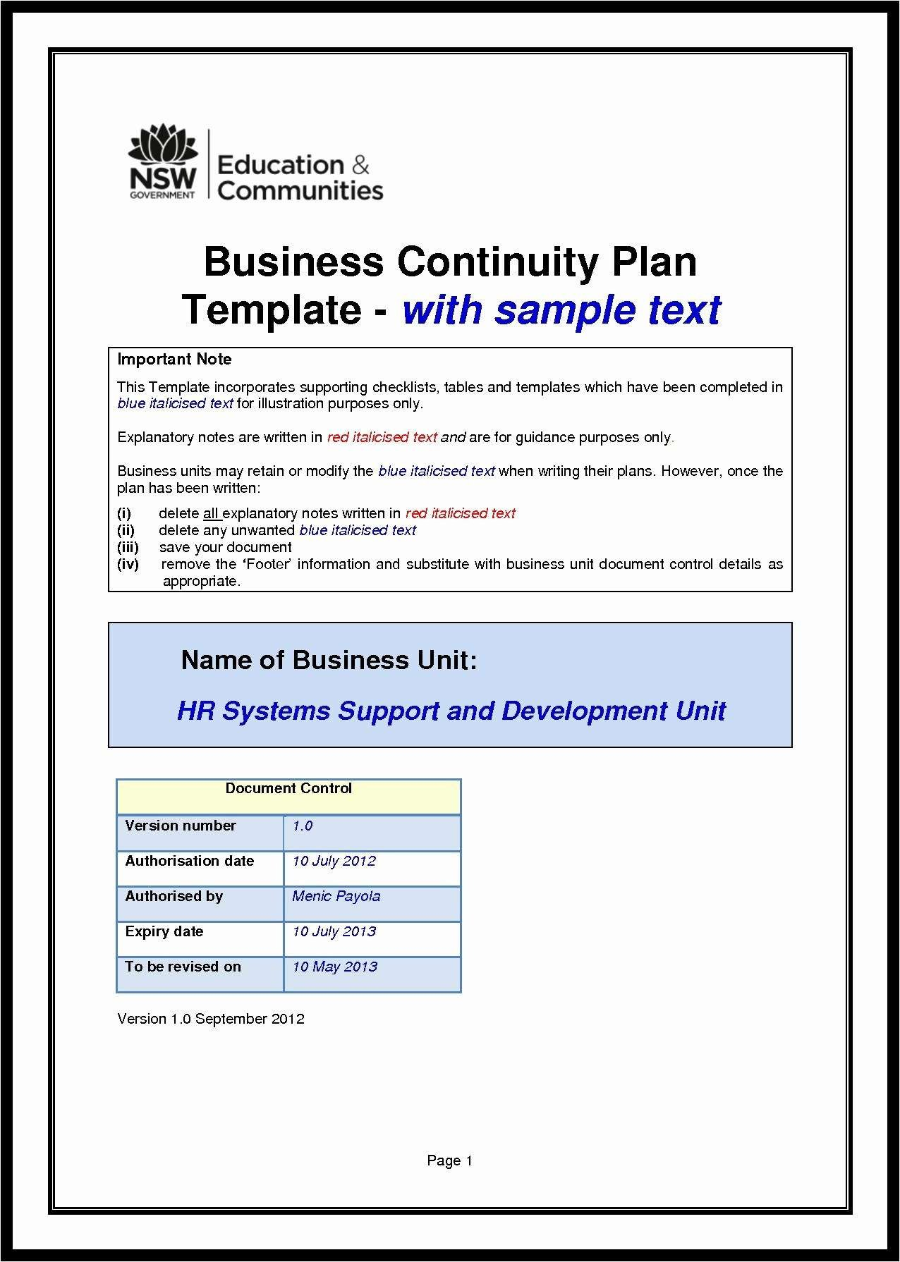 Business Continuity Management Policy Template  Caquetapositivo Throughout Business Continuity Management Policy Template