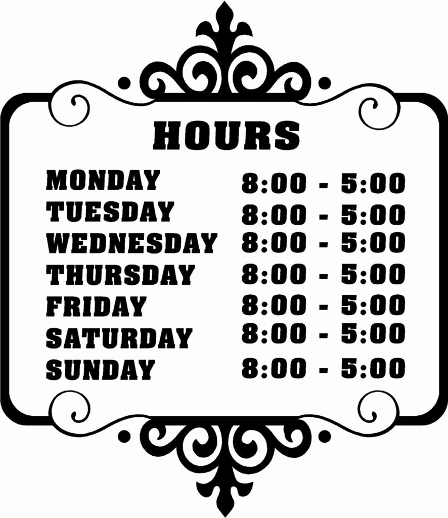 Business Hours Template Microsoft Word Elegant Best Of Printable Within Printable Business Hours Sign Template