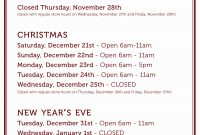 Business Hours Template Microsoft Word Ideas Beautiful Holiday with regard to Business Hours Template Word