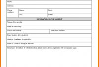 Business Incident Report Template  Sansurabionetassociats with regard to Generic Incident Report Template