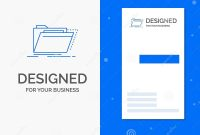 Business Logo For Archive Catalog Directory Files Folder inside Library Catalog Card Template