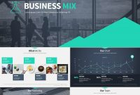 Business Mix  Modern Premium Ppt Presentation Set  Power Point within Ppt Presentation Templates For Business