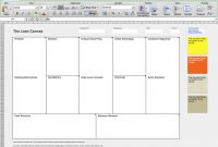Business Model Canvas And Lean Canvas Templates  Neos Chonos for Lean Canvas Word Template