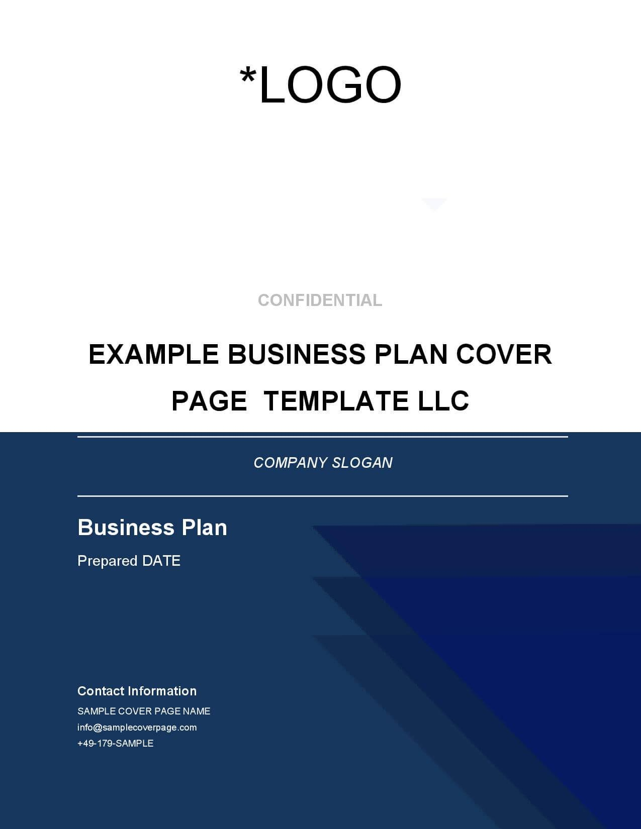 Business Plan Cover Page Template  Brainhive Business Planning With Regard To Business Plan Cover Page Template