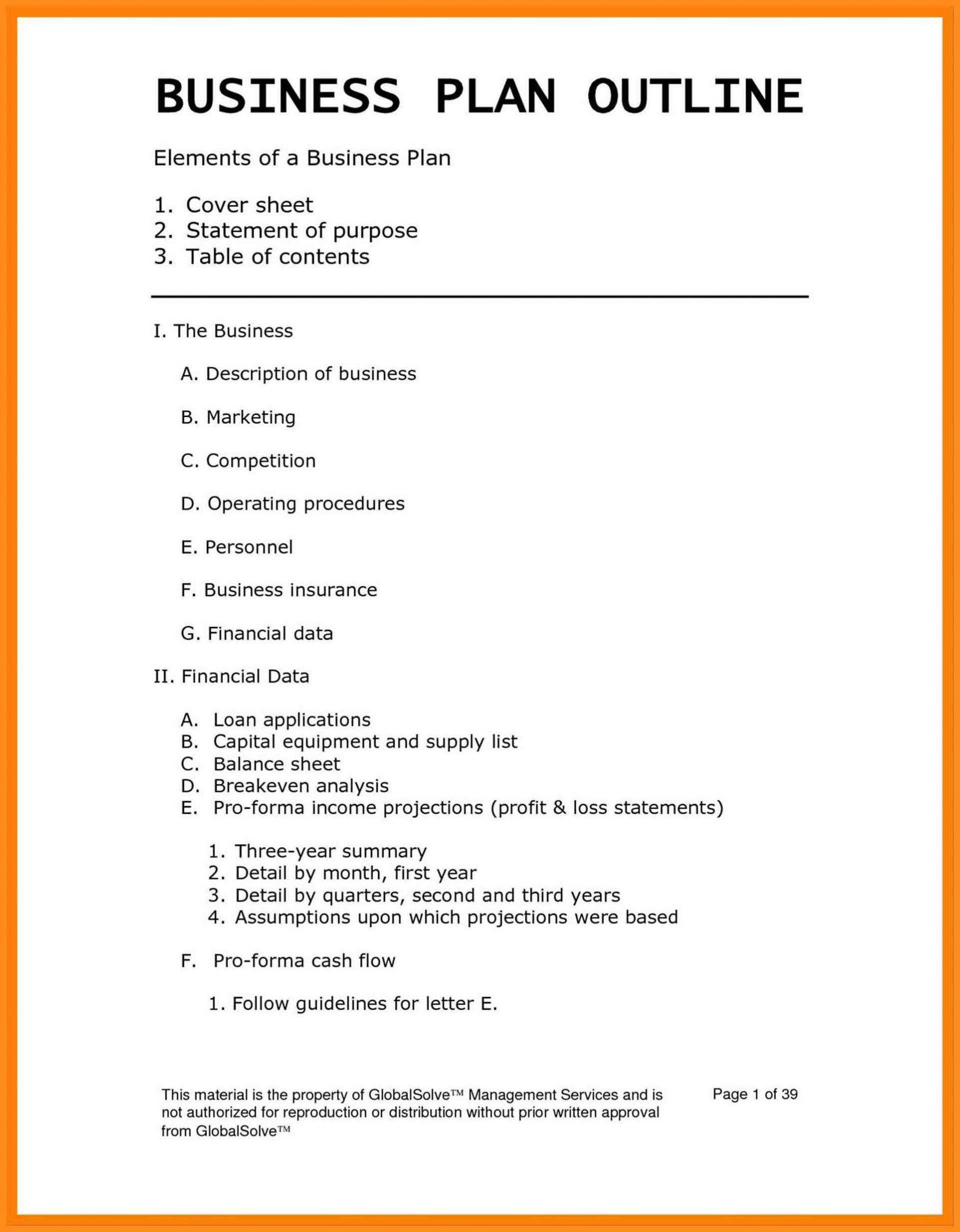 Business Plan Page  Unforgettable A Cafe Restaurant And Bakery With Regard To Business Plan For Cafe Free Template