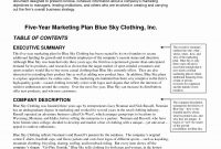 Business Plan Template For Fashion Brand Clothing Line Idea Free with regard to Business Plan Template For Clothing Line