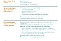 Business Plan Template  Hubspot  General Assembly Within Customer Service Business Plan Template