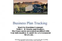 Business Plan Trucking  Pdf  Download regarding Business Plan Template For Trucking Company