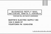 Business Reply Envelope Template Valid Business Reply Envelope within Business Reply Mail Template
