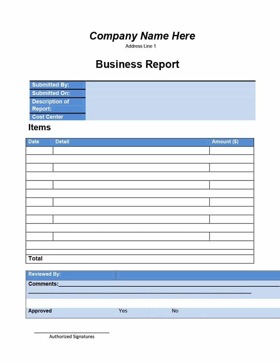Business Report Templates  Format Examples ᐅ Template Lab With Company Report Format Template