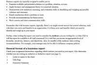 Business Report Templates  Format Examples ᐅ Template Lab within Training Report Template Format