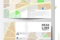 Business Templates For Bi Fold Brochure Magazine Flyer Or Annual With Regard To Blank City Map Template