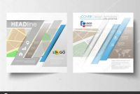 Business Templates For Square Brochure Magazine Flyer Annual With Regard To Blank City Map Template
