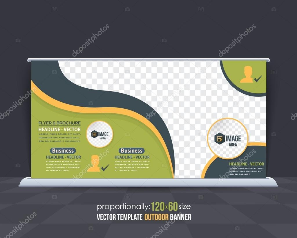 Business Theme Outdoor Banner Design Advertising Vector Template Pertaining To Outdoor Banner Design Templates