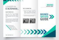 Business Tri Fold Brochure Template Design With Vector Image regarding Adobe Illustrator Tri Fold Brochure Template