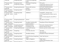Business Trip Itinerary for Sample Business Travel Itinerary Template