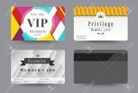 Business Vip Member Cards Design Template Vector Illustration inside Template For Membership Cards