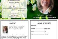 Butterfly Memorial Program  Memorials  Funeral Memorial Funeral with regard to Memorial Card Template Word