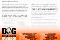 Buy The Dog Breeder's Handbook Breed Dogs  Make Money for Dog Breeding Business Plan Template