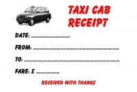 Cab Receipt Template Free Taxi Cab Receipt Template Doc Pdf  Page in Blank Taxi Receipt Template