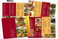 Cafe Menu Design Template Free Download Lovely  Menu Design regarding Sample Menu Design Templates