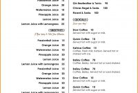Cafe Menu Template Word  Template Ideas Download Free Menu pertaining to Free Restaurant Menu Templates For Word