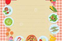 Cafe Or Restaurant Menu Template Stock Vector  Illustration Of in Blank Restaurant Menu Template