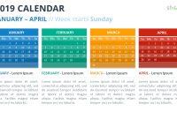 Calendar Powerpoint Templates pertaining to Microsoft Powerpoint Calendar Template